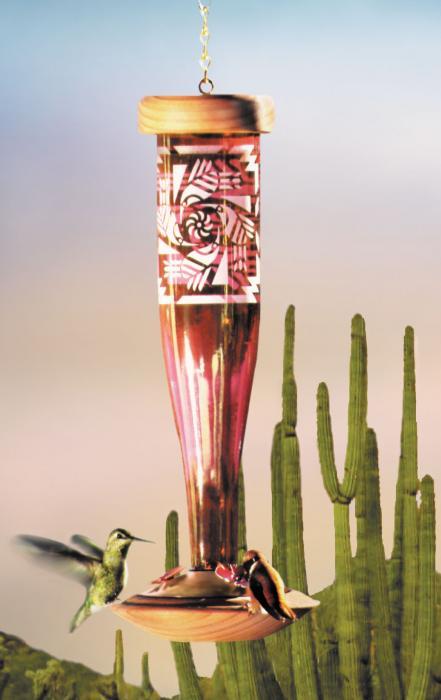Schrodt Southwest Ruby HumBird Lantern