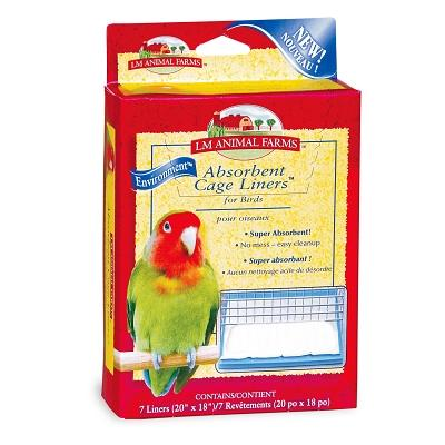 LM Animal Farms LM02914 Absorbent Cage Liner Bird