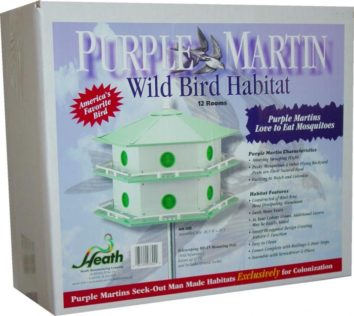 Heath Aluminum 12-Room Deluxe Purple Martin House