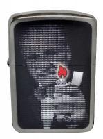 Zippo George Blaisdell Flames 1941 Black Ice Lighter