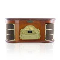 Pyle Bluetooth Vintage Style Turntable AM/FM Radio/CD/Cassette Players/USB/Slide-Out iPod/MP3 Dock (PTCD54UB)