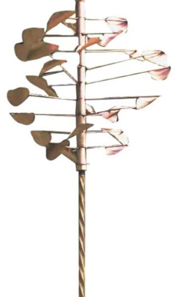 Ancient Graffiti Twisted Stake (K/D) Copper Finish Yard Ornament