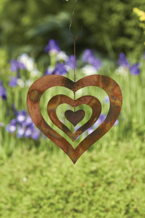 Ancient Graffiti Heart Large Hanging