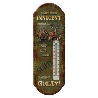 Rivers Edge Products Innocent Animals Tin Thermometer