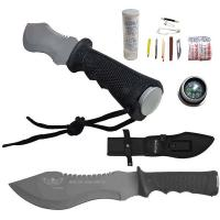 Renegade Tactical Steel Strike Force Surviva Knife with Black ABS Handle