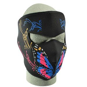 Cold Weather Headwear Neoprene Face Mask, Butterfly