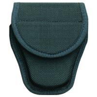 Bianchi 7300 AccuMold Covered Handcuff Case, Hidden Snap, Black