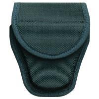 Bianchi 7300 AccuMold Covered Handcuff Case, Hidden Snap, Black