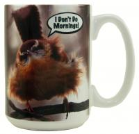 "Songbird Essentials Mug 15oz ""I Don't Do Mornings"""