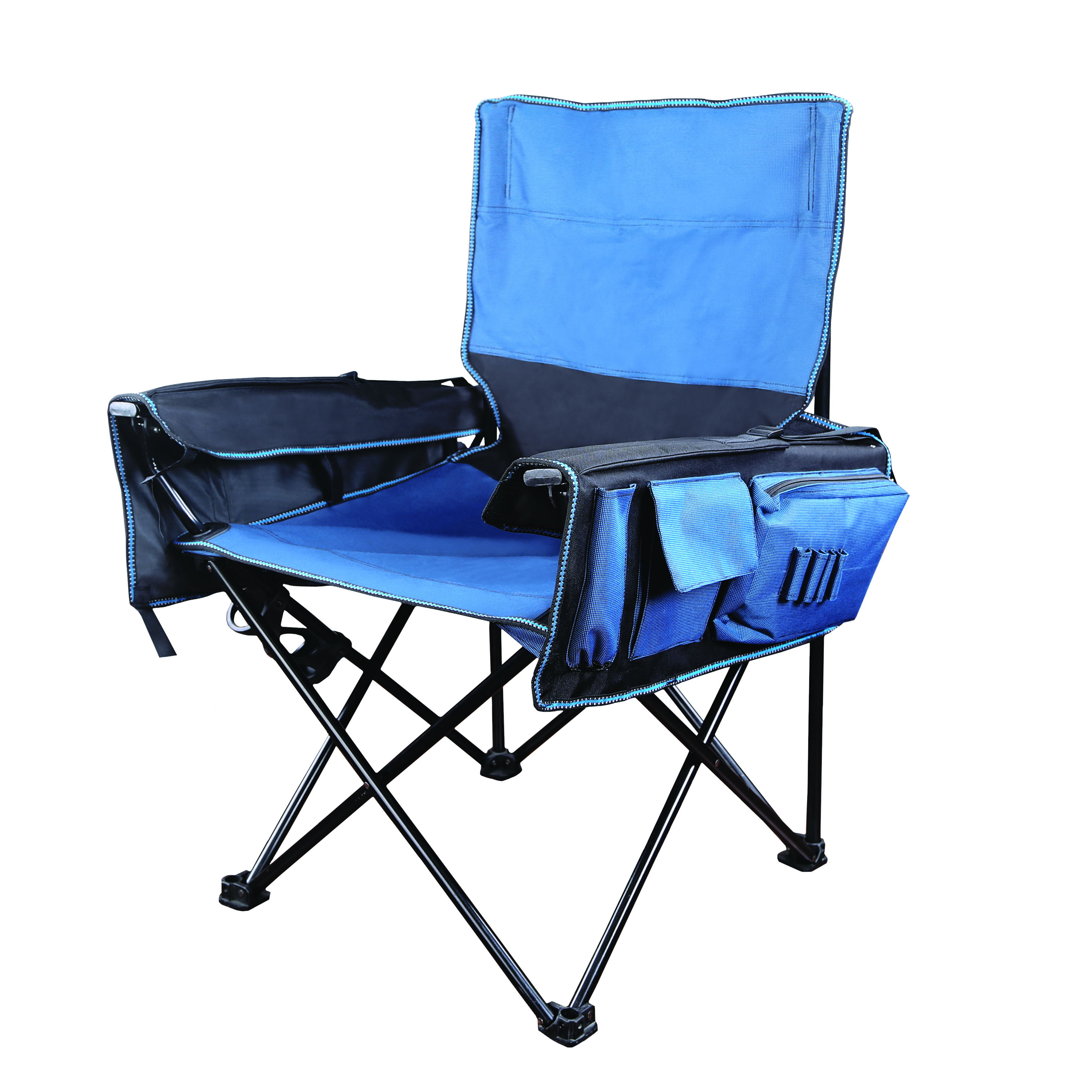 Stansport Deluxe Utility Arm Chair W Fishing Pole Holder