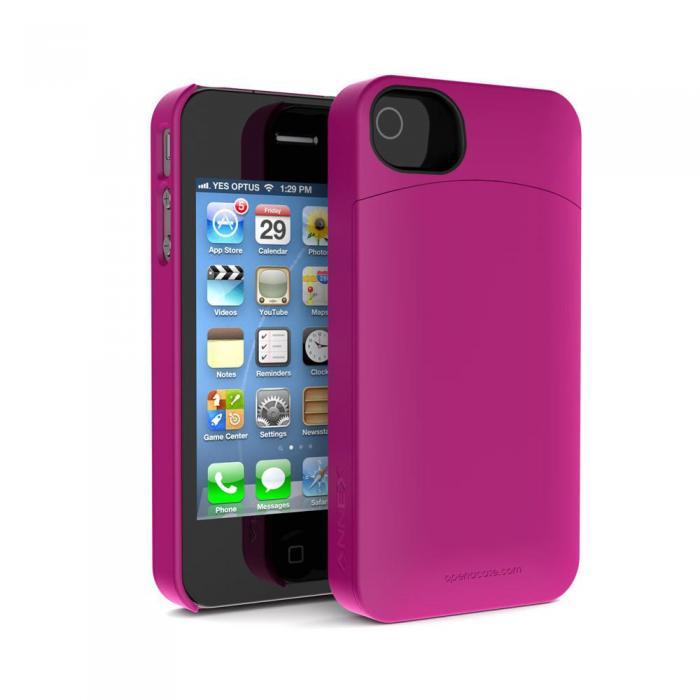 Annex Hcip4P Pink Iphone4 4S Holda Case W/ Discrete Storage