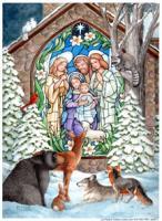 Toland Winter Nativity House Flag