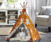 Merry Products Orange Puzzle Medium Pet Teepee