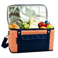 Picnic at Ascot Hybrid Semi-Rigid Folding Cooler- Diamond Orange