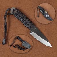 Stone River Black Ceramic Neck Knife with Kydex Sheath And Bonus Nylon Belt Sheath