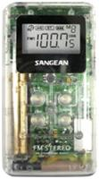 Sangean DT-120 CLEAR Pocket Am/fm Digital Radio (Clear)