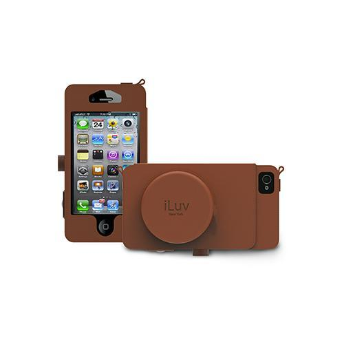 Iluv  Premium Leather Camera Case with Storage Pocket For iPhone 5 -Tan