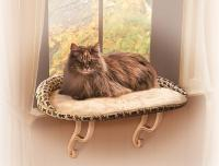 Deluxe Kitty Sill With Tan Bolster