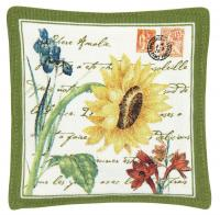 Alice's Cottage Flower Postcard Single Mug Mat