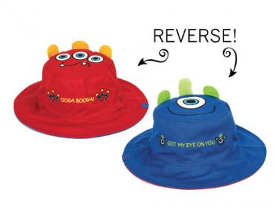 Luvali Convertibles Monster/Monster Reversible Kids' Hat Small