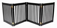 Small 4 Panel Free Standing EZ Pet Gate - Black