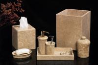 Imperial Star 7 Piece Golden Wheat Marble Bath Set