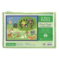 Chronicle Books Forest Friends Pouch Puzzle 12