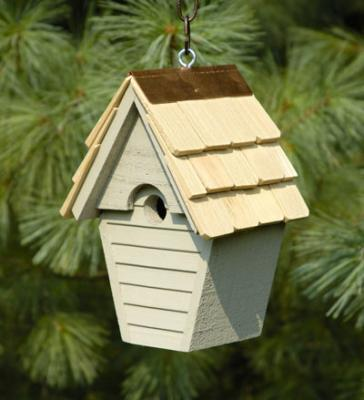 Heartwood Wren-In-The-Wind Birdhouse, Smoke Grey
