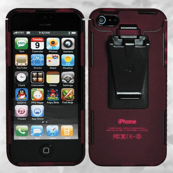 Nite-ize iPhone 5 Connect Case, Translucent Cranberry