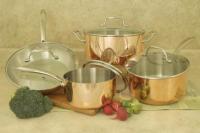Cookpro Tri Ply 8 Pc Copper Cookware