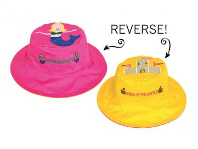 Luvali Convertibles Mermaid/Sandcastle Reversible Kids' Hat Large