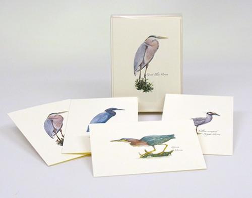 Steven M. Lewers & Associates Heron Notecard Assortment (2 each of 4 styles)