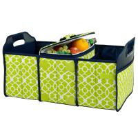 Original Folding Trunk Organizer with Cooler by Picnic at Ascot - Trellis Green