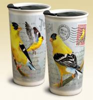 American Expeditions Goldfinch Postcard Ceramic Travel Mug