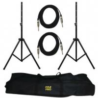 Pyle-Pro PMDK102 Heavy-Duty Pro Audio Speaker Stand & 1/4'' Cable Kit