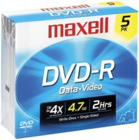 Maxell 635042/635030/638002 4.7 GB DVD-R, 5-Pack