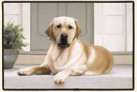 Fiddler's Elbow Yellow Lab Porch Doormat