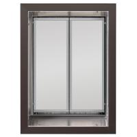 PlexiDor X-Large Exterior Wall Unit Performance Pet Door, Bronze