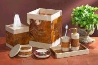Imperial Bath 7 Piece Desert Sand and Amber Marble Bath Set