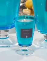 Zodax Set of Two Illuminaria Wax Filled Aqua Vase Candle Jars - Small
