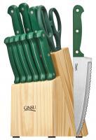 Ginsu Essential Series, 14 Piece Cutlery Set, Green