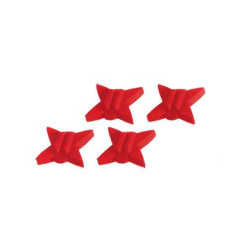 Truglo Tru-Block Silencers - Red, 4 Pack