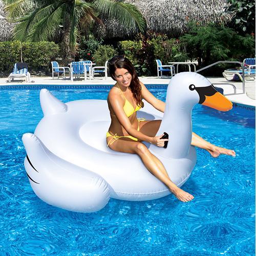 Swimline Inflatable Ride-On Giant Swan