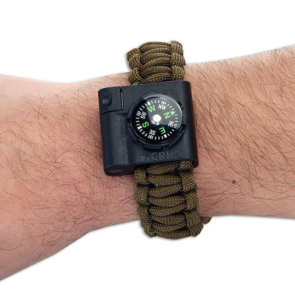 Columbia River (CRKT) Paracord Survival Bracelet Accessory, Compass & Fire Starter