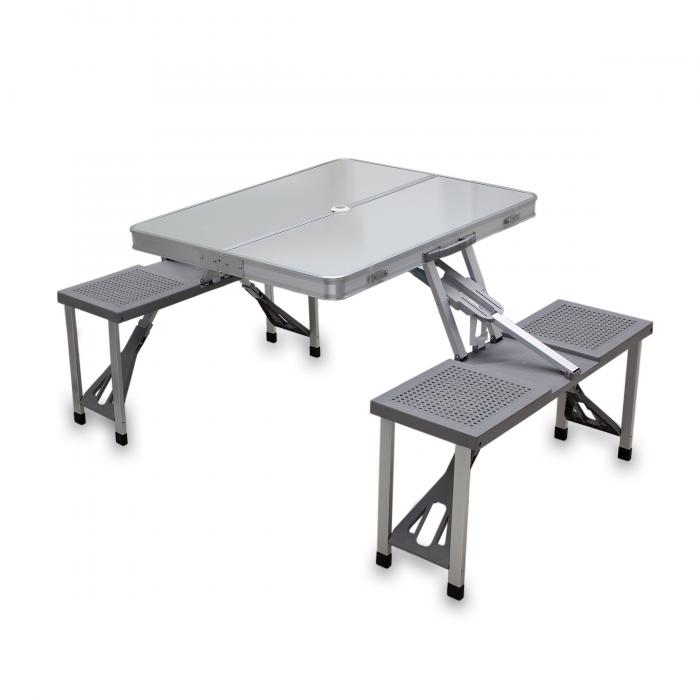Picnic Time Aluminum Folding Picnic Table with Seats