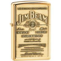Zippo High Polish Brass, Jim Beam Brass Emblem