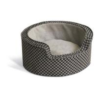 "K&H Pet Products Round Comfy Sleeper Self-Warming Small Gray / Black 18"" x 18"" x 8"""