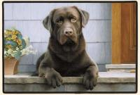 Fiddler's Elbow Chocolate Lab Porch Doormat