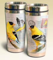 American Expeditions Goldfinch Postcard Steel Travel Mug
