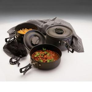 Texsport Scouter Black Ice Hard Anodized QT Cook Set